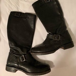 Black mid calf Frye boots